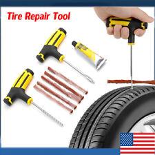 Car Tubeless Tire Puncture Repair Plug Repairing Kits Needle Patch Fix Tool