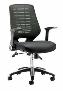 Dynamic - Relay Task Operator Chair + Free Height Adjust Arms - Airmesh - Black