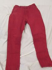 "Ladies ""Wranglers"" Size 15 X 32, Red Tapered Leg Cowgirl Jeans"