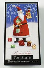 Christmas Cards Santa Snowman 2 Designs 20 Pack Luxury Xmas Tom Smith Quality