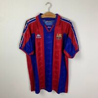 BARCELONA HOME FOOTBALL SHIRT 1995/1997 VINTAGE SOCCER JERSEY MENS KAPPA SIZE XL
