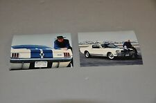 CARROLL SHELBY PICTURES WITH SHELBY GT 350 MUSTANG AT LAX  - 35MM PHOTOS