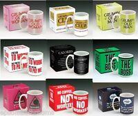 Humour Break Mugs Large Range of Funny Rude Coffee Tea Novelty Mugs