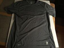 Nike Pro Nikefit Short Sleeve Men'S Size Large Gray Athletic Shirt