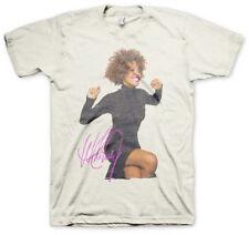 Whitney Houston-Smile-Black Dress Portrait-X-Large White T-shirt