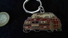 BMW M5 Schlüsselanhänger Motiv Auto rot Keyring 2 seitig