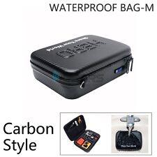 Carbon fiber Waterproof Hard Case Box Bag For GoPro HD Hero 4 3+ 2 1 Middle Size