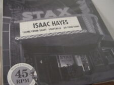 """ISAAC HAYES HITS FROM SHAFT 12"""" SINGLE 45 SPEED MASTERED BY HOFFMAN & GRAY #D 76"""