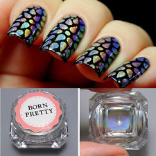 Super Shine Rainbow Holographic Laser Powder Nail Glitter Chrome Pigments DIY