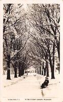 Vintage Real Photo Postcard In the Fitzroy Gardens, Melbourne, Australia #M