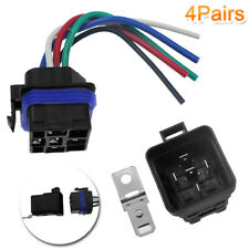 4pcs DC 12V Car 40amp 5 pin 5 wire Relay Plug with Harness Socket Heavy Duty Hot