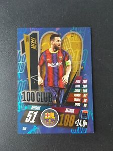 Topps Match Attax Champions League 20/21 - Lionel Messi 100 Club cl9