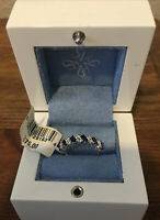 New Simply Vera Wang Diamond and Blue Sapphire Ring Size 7