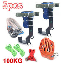 Gear Tree Pole Climbing Spike Safety Rescue Belt Straps Gloves Carabiner Ropes