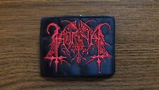 HORNA,SEW ON RED EMBROIDERED PATCH