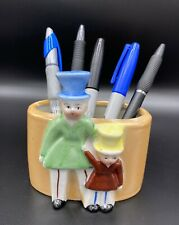 New ListingVintage Pen / Pencil Holder Porcelain Lusterware Office Desk Decor - Japan