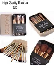 Make-up Brush Set Of 12/pcs With Gold Metal Case High Quality Brushes New