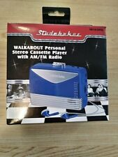 Studebaker Retro-Look Walkabout Personal Stereo Cassette Player Am/Fm Radio