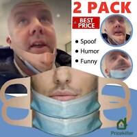 2X Adult Unisex Reusable Washable Facemask Face Mask Printing Funny Mouth Mask