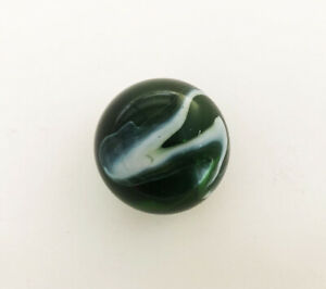 A BEAUTIFUL BIG EMERALD GREEN GLASS MARBLE / ALLEY 1900 - 1950