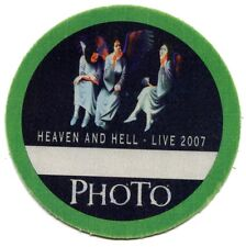 HEAVEN AND HELL 2007 Live Tour Backstage Pass!!! Authentic stage BLACK SABBATH