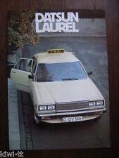 Datsun Laurel Taxi (Laurel baureihe C231) Prospekt / Brochure / Depliant, D