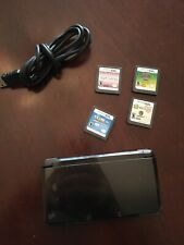 Nintendo 3DS Handheld System Black Sd Card And Charger Bundle With 4 Games