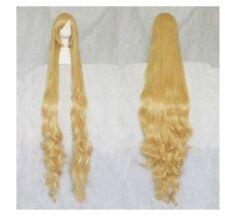 Victoria mode joli blonde style CHEVEUX Bouclés long Cosplay Perruque ondulée