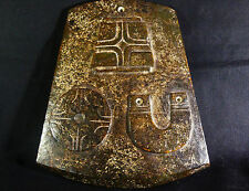"""Ancient Chinese 3 Emperor's Jade Axe """"Jue"""" Immortality & Heaven w/Translation"""