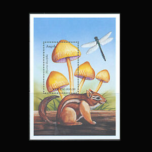 Angola, Sc #1105, MNH, 1999, S/S, Mushrooms, Fungi, Insects, Squirrel, A5GDD