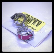 NWT Authentic Michael buckle erring pink silver tone W Gift Box/Bag