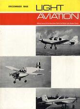 LIGHT AVIATION MAGAZINE 1968 DEC CROSS COUNTRY DAILY MAIL ATLANTIC RACE