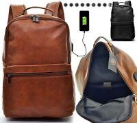 Zaino Uomo Pelle Grande Lavoro Porta Pc USB Viaggio Multitasche Comodo Capiente