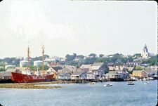 sl97  VINTAGE SLIDE 1977 NANTUCKET HARBOR SHIP 706A