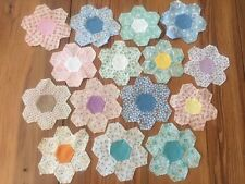 Vintage Quilt Squares Assembled STARS Cut Pieces Lot 15 Calicos Sewing Project