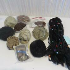 New Old Stock Doll Wig Lot - 11 Various Sizes And Colors Doll Wigs Lot