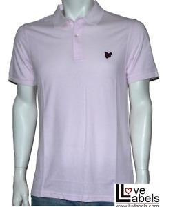Mens Lyle & Scott Pink Polo Shirt, size Medium only