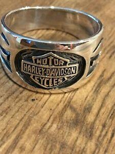 Sterling Silver 925 Harley-Davidson Ring SIZE 11