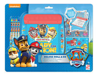 Paw Patrol Roll And Go Art Desk Colouring Activity Set Crayons Pens Stickers