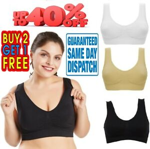 Seamless Sports Style Bras Crop Top Vest Comfort Stretch Shapewear wire free Bra