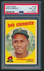 Bob Clemente 1959 Topps #478 PSA 8 (OC) NM-MT