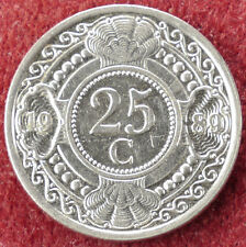 Netherlands Antilles 25 Cents 1989 (D2004)