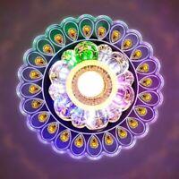 Bunt Kristall LED Deckenleuchte Deckenlampe Kronleuchter Anhänger Wohnzimmer DE