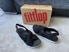 FitFlop Airmesh black polyester sandals, UK size 7,EUR 41