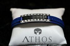 Rolex brand bracelet high-end designers design Genuine Blue leather bracelet