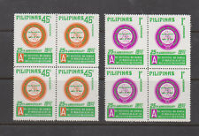 Philippine Stamps 1975 Philippine Mental Health Ass. Perf set Blocks of 4, MNH