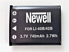 Akku Newell 740mAh Li-40B Li-42B NP-45 EN-EL10 D-Li63 CNP-80 Klic-7006 D-Li63