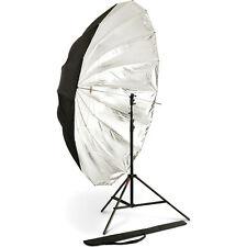 """PhotoFlex UM-ADH72 72"""" Parabolic Silver Umbrella"""