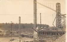 Cornell Wisconsin~Dam Under Construction~Scaffolding~Towers~1912 Lewis RPPC