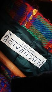 Designer Vintage 1980s Green Check Givenchy Coutore Jacket. Size M